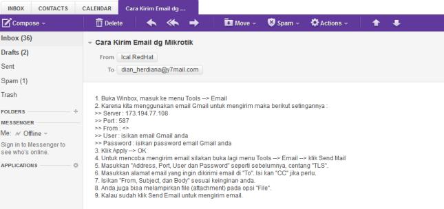 Email Mikrotik