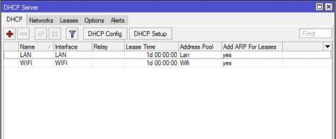 Setting DHCP Server MikroTik