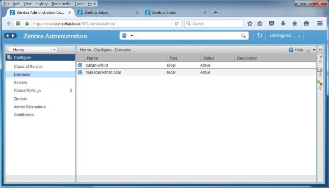 Setting Multidomain Zimbra Mail