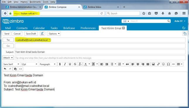 Kirim Email Beda Domain di Zimbra