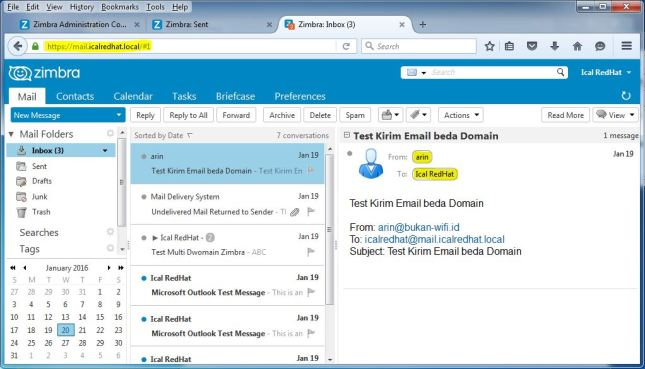 Lihat inbox email di webmail client