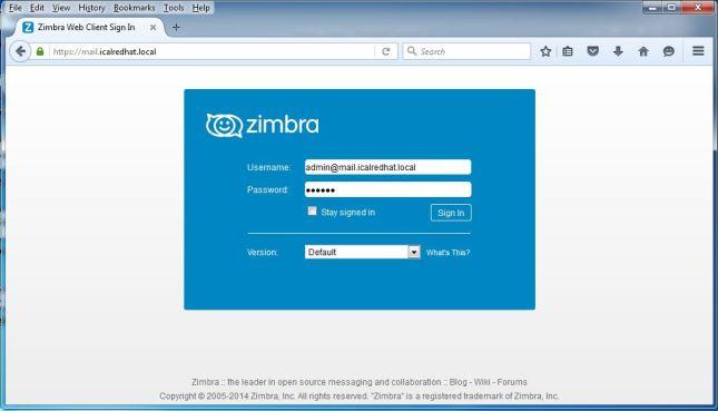 Zimbra Webmail Client