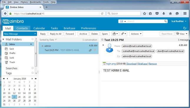 Lihat Inbox Email