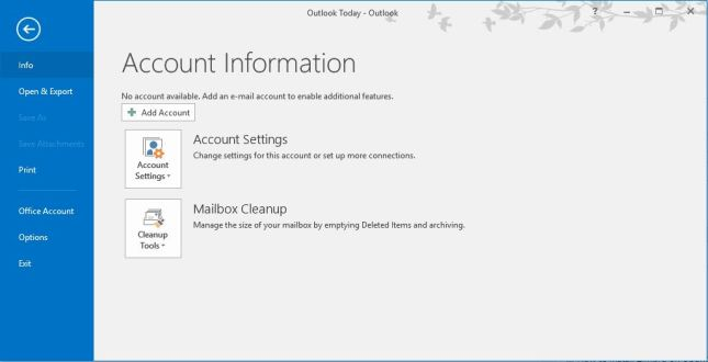 Setting Zimbra di Microsoft Outlook 2016