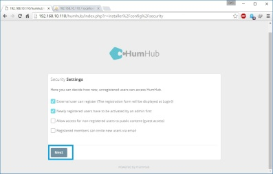 install-humhub-security-setting