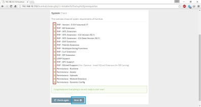 install-humhub-system-check