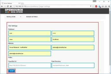 install-ossn-server-setting