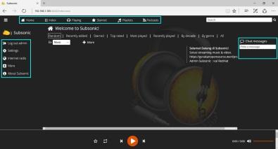 subsonic-dashboard